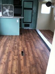 Installing Laminate Flooring In Motorhome The New Flooring Is Going In Trafficmaster Allure Barnwood