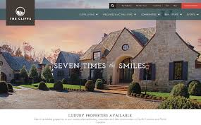 the best designs web design inspiration the cliffs luxury real