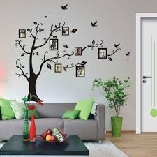 online buy wholesale tree sticker wall decal from china set large size black color family tree sticker wall decal photo frame