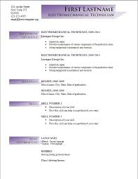 Formats For Resumes Resume Template Microsoft Word Download Resume Examples Free