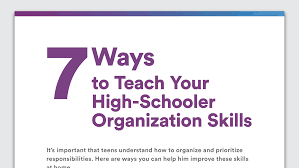 tips for disorganized teenagers organization skills in high