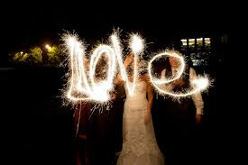Sparklers For Weddings And Groom Spell Love With Sparklers At Wedding Reception