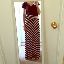 60 off forever 21 dresses u0026 skirts black and white striped maxi