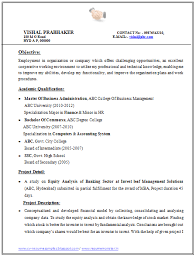 Best Finance Resume by Mba Finance Resume Format Resume Format