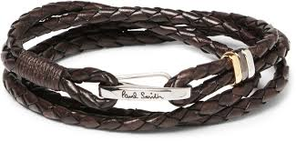 leather bracelet woven images Paul smith woven leather wrap bracelet where to buy how to wear jpg
