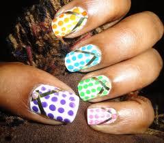 polka dot flip flops nail art flip flop nails flipping and makeup