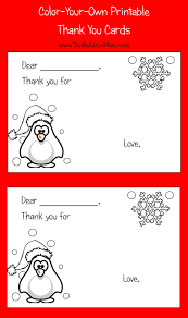 thank you card size color your own printable thank you cards for kids post card free