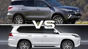 toyota 4runner vs lexus rx 350 2016 toyota fortuner vs 2016 lexus lx570