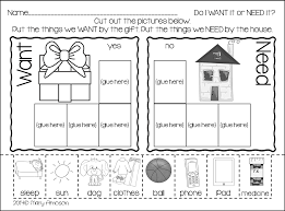Noun Worksheet Kindergarten Grab This Freebie Today For Wants And Needs Kinderland