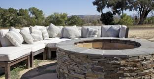 Backyard Stone Fire Pit by Outdoor Fire Pits U2013 Stone Concepts Inc