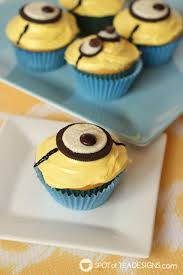 minion cupcakes and easy minion cupcakes spot of tea designs