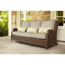 Sofas With Pillows by Brown Jordan Vineyard Patio Sofa With Meadow Cushions And