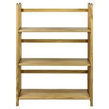 Tiered Bookshelf Folding Bookcase Target