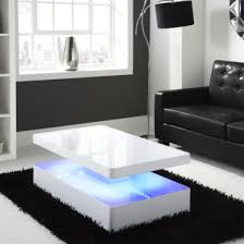 white gloss side table tiffany white high gloss rectangular coffee table with led lighting
