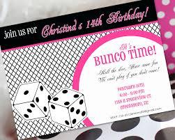14th birthday party invitations bunco birthday invitation bunco invitation bunco birthday