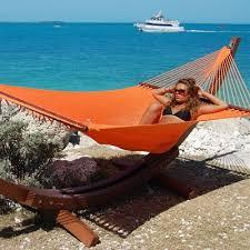 caribbean jumbo hammock spreader bar blue color