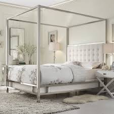 Unique Bedroom Sets With High Headboard  King Canopy Bed - White leather headboard bedroom sets