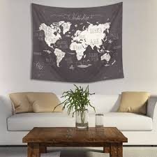Indian Drawing Room Furniture High Quality World Map Indian Mandala Wall Hanging Tapestry Art