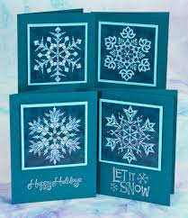 snowflake cards a sle project for our new snowflakes template