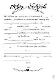 advice to newlyweds mad libs free printable wedding and popsugar