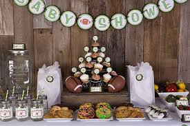football baby shower interesting ideas football baby shower decorations winsome