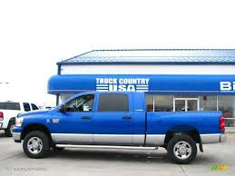 2007 electric blue pearl dodge ram 2500 slt mega cab 4x4 27920239