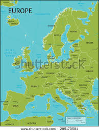 world map with country names and latitude and longitude political map europe stock vector 24917725
