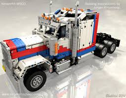 build your own kenworth truck technicbricks building instructions for jurgen u0027s kenworth w900