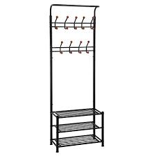 amazon com songmics heavy duty 18 hooks coat rack with 3 tier