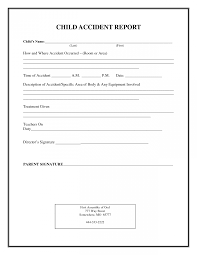 medication incident report form template incident report form child care family children ohio day