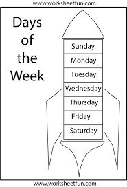 9 best days of the week images on pinterest kindergarten