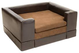 sofa bed contemporary rover chocolate brown leather dog sofa bed contemporary dog