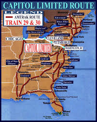 Amtrak Stations Map by Capitol Limited Train Maps Guide And Railway Information