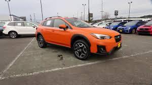 orange subaru crosstrek 2018 subaru crosstrek 2 0i limited sunshine orange jh238706