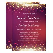 sweet 16 birthday party invitations u0026 announcements zazzle