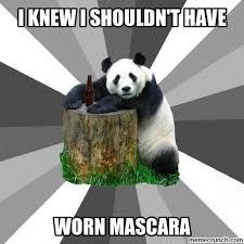 Panda Mascara Meme - panda eyes