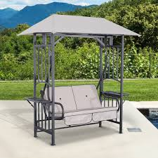 Patio Furniture Gazebo by Outsunny Deluxe 10 U0027x10 U0027 Gazebo Canopy Outdoor Party Tent Sun