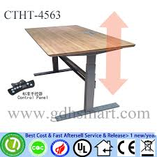 Bamboo Table Top by Bamboo Table Top Adjustable Height Table By Electrical Motor