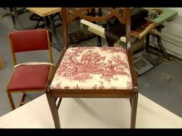 dining table chair reupholstering how to reupholster a dining chair this old house youtube