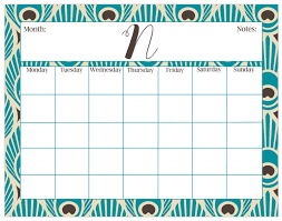 Desk Calendar Custom Large Desk Calendar Peacock Print Monthly Calendar Or Weekly
