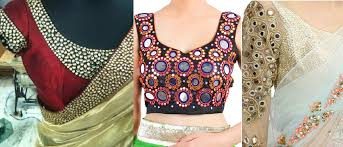 embroidered blouses popular fancy embroidered saree blouses styles designs