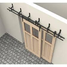 Interior Barn Door Hardware 6 8ft Arrow Design Bypass Rustic Sliding Barn Wood Closet Door