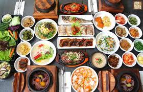 table full of food hansang new tasting menu