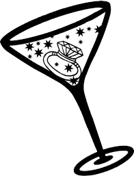 cocktail party silhouette clipart girls silhouettes pin whit clipart martini glass 13