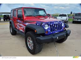 custom jeep red 2011 jeep wrangler unlimited sport 4x4 us flag custom red white