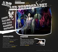web art html template 0954 art u0026 photography website