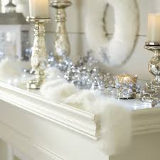 themed christmas decor interior design amazing white winter themed