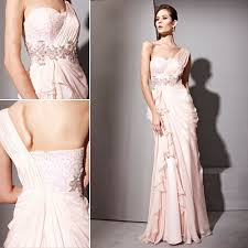 Light Pink Bridesmaid Dress Couture Light Pink One Shoulder Chiffon Bridesmaid Dress 1810192