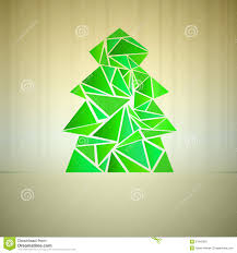 green triangle tree cluster vector stock image image 27945061