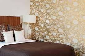 contemporary and warm bedroom wallpaper design family style by